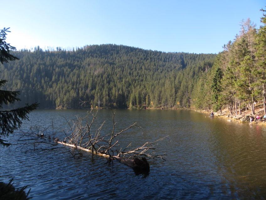 Šumavská jezera s kočárkem