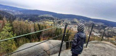 Jizerské hory s dětmi: skalní vyhlídka Finkenstein (2 km)